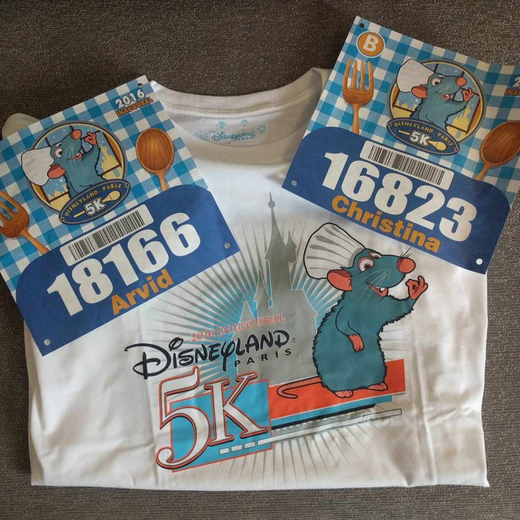 runDisney Disneyland Paris 2016 bibs