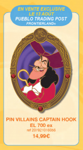 dlp pin trading 2016 aug Captain Hook