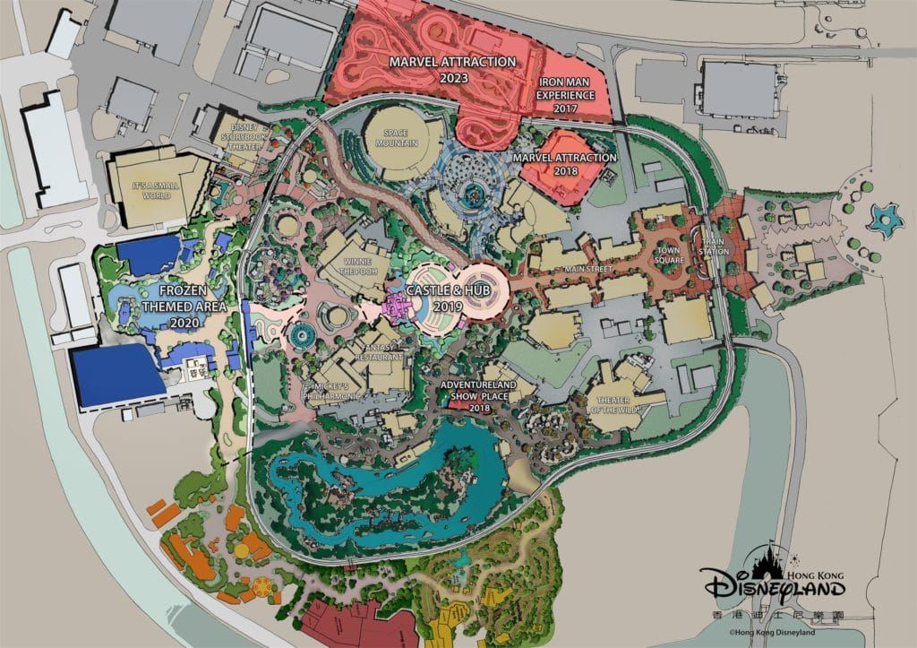 Hong Kong Disneyland - Transformation Plan Map