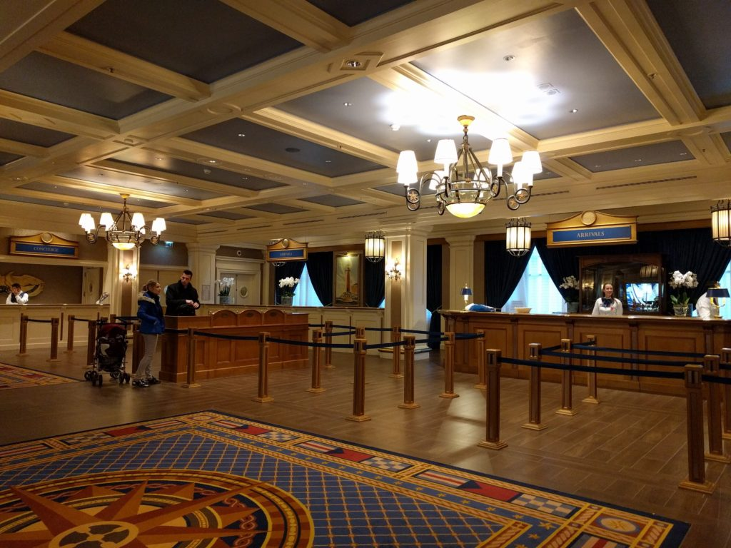 Lobby and Reception at Disney's Newport Bay Club