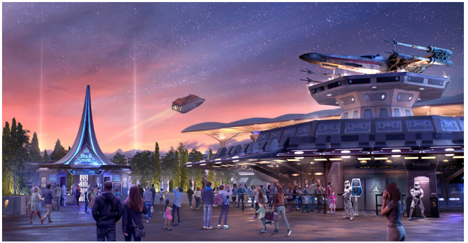 Disneyand Paris Star Tours Concept Art