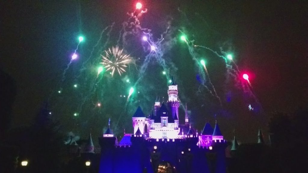 Fireworks at Disneyland - Remember, Dreams Come True