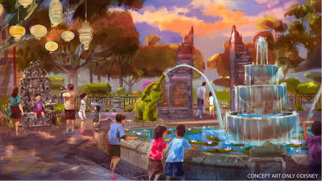 HKDL Explorers Lodge Theme Garden