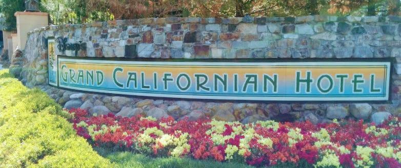 grand californian hotel entrance sign