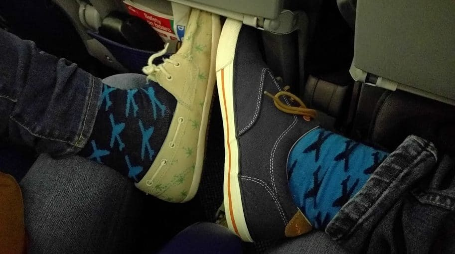 Socks with Airplanes on them