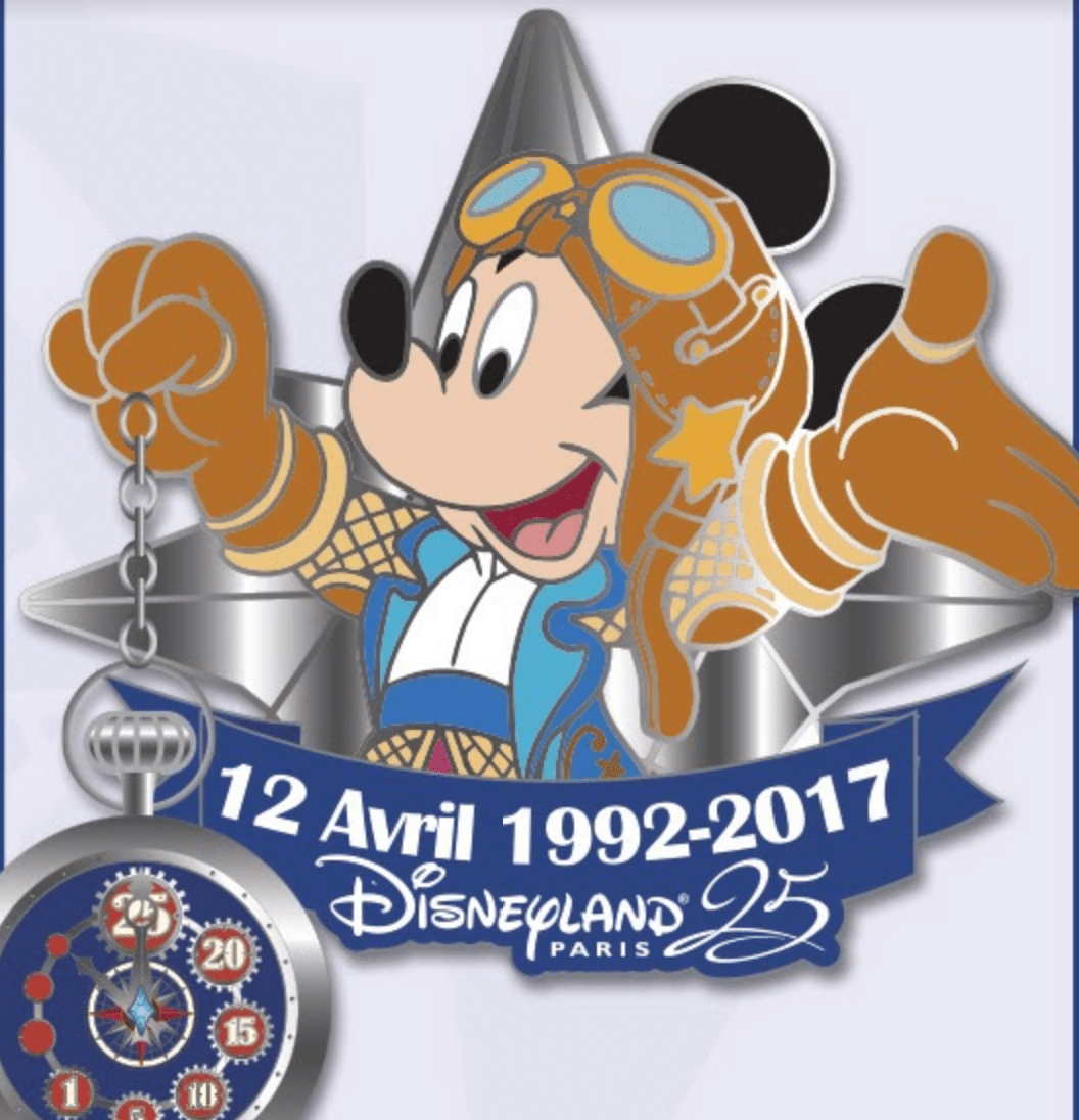Pin trading Mickey 25th Anniversary Disneyland Paris