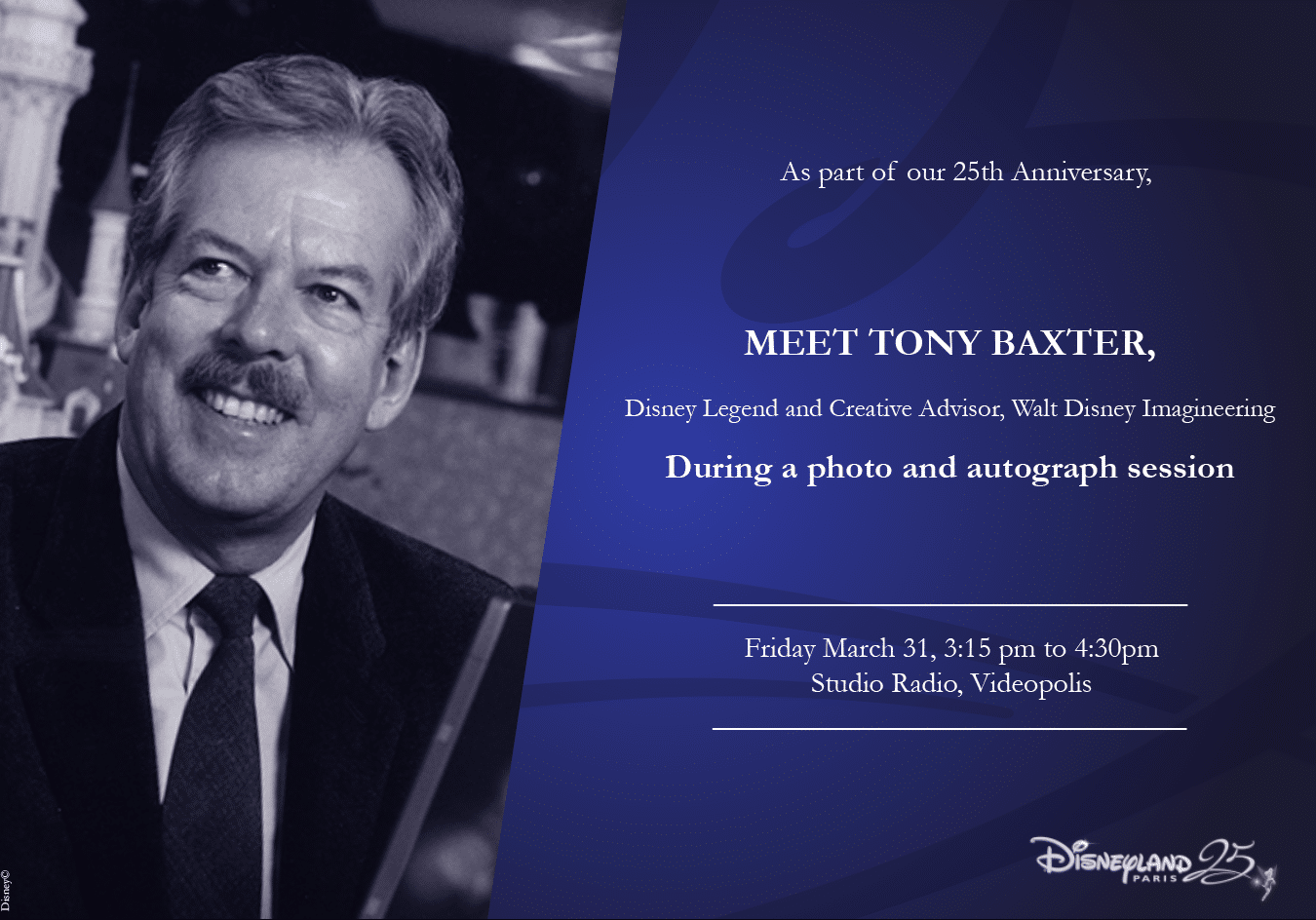 Tony Baxter - Disneyland Paris