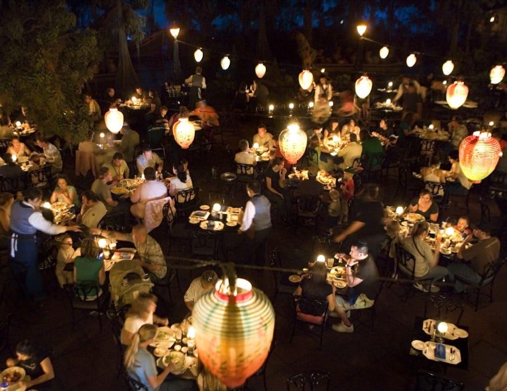 Blue Bayou Restaurant from balcony