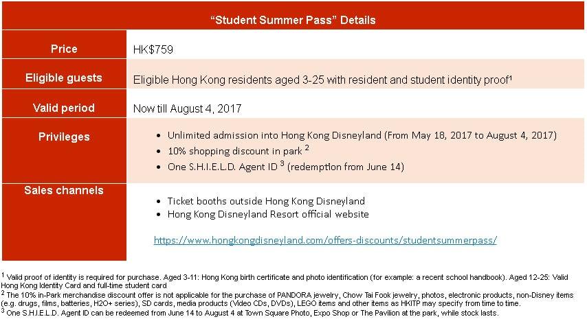 Student Pass - Hong Kong Disneyland