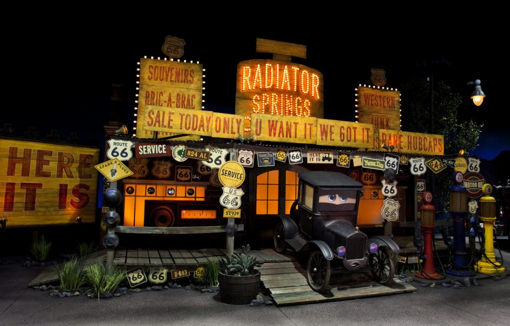 Lizzie in Radiator Springs / Cars Land