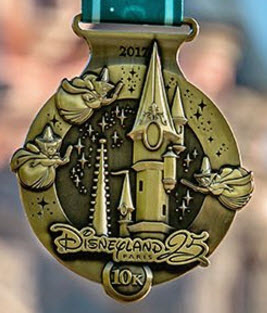 runDisney Disneyland Paris 2017 10k medal