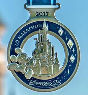runDisney Disneyland Paris 2017 Half-Marathon medal