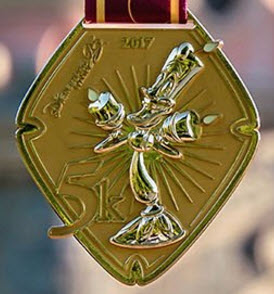 runDisney Disneyland Paris 2017 5k medal