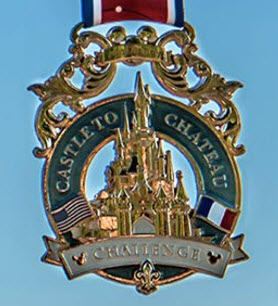 runDisney Disneyland Paris 2017 Castle to Chateau challenge medal