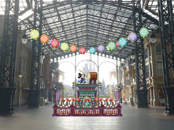 Disney Natsu Matsuri decorations