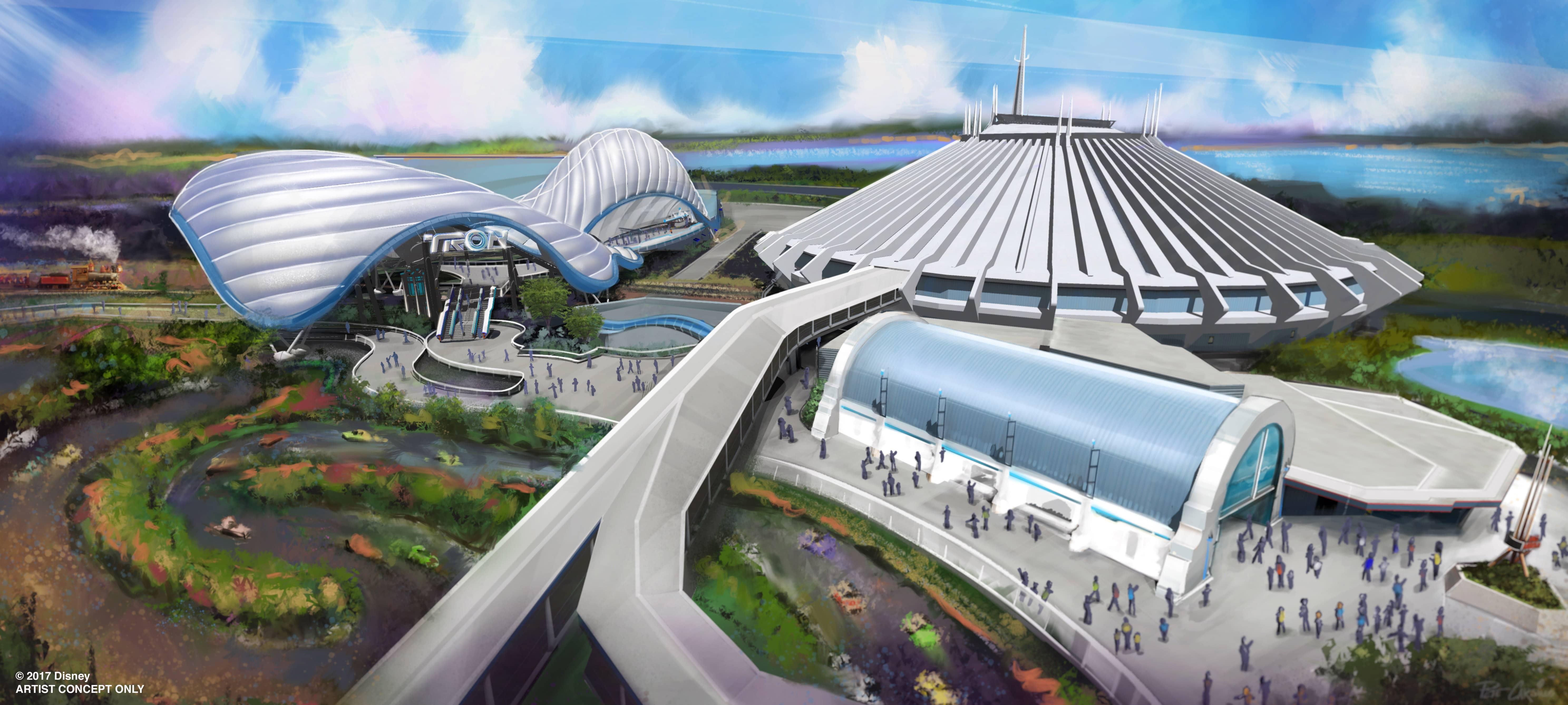 D23 Expo Magic Kingdom TRON