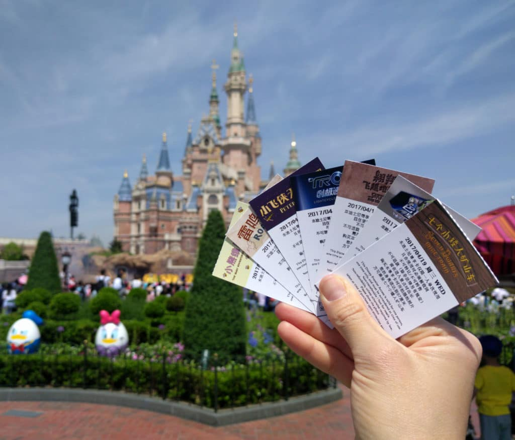 Shanghai Disneyland Fastpasses Castle