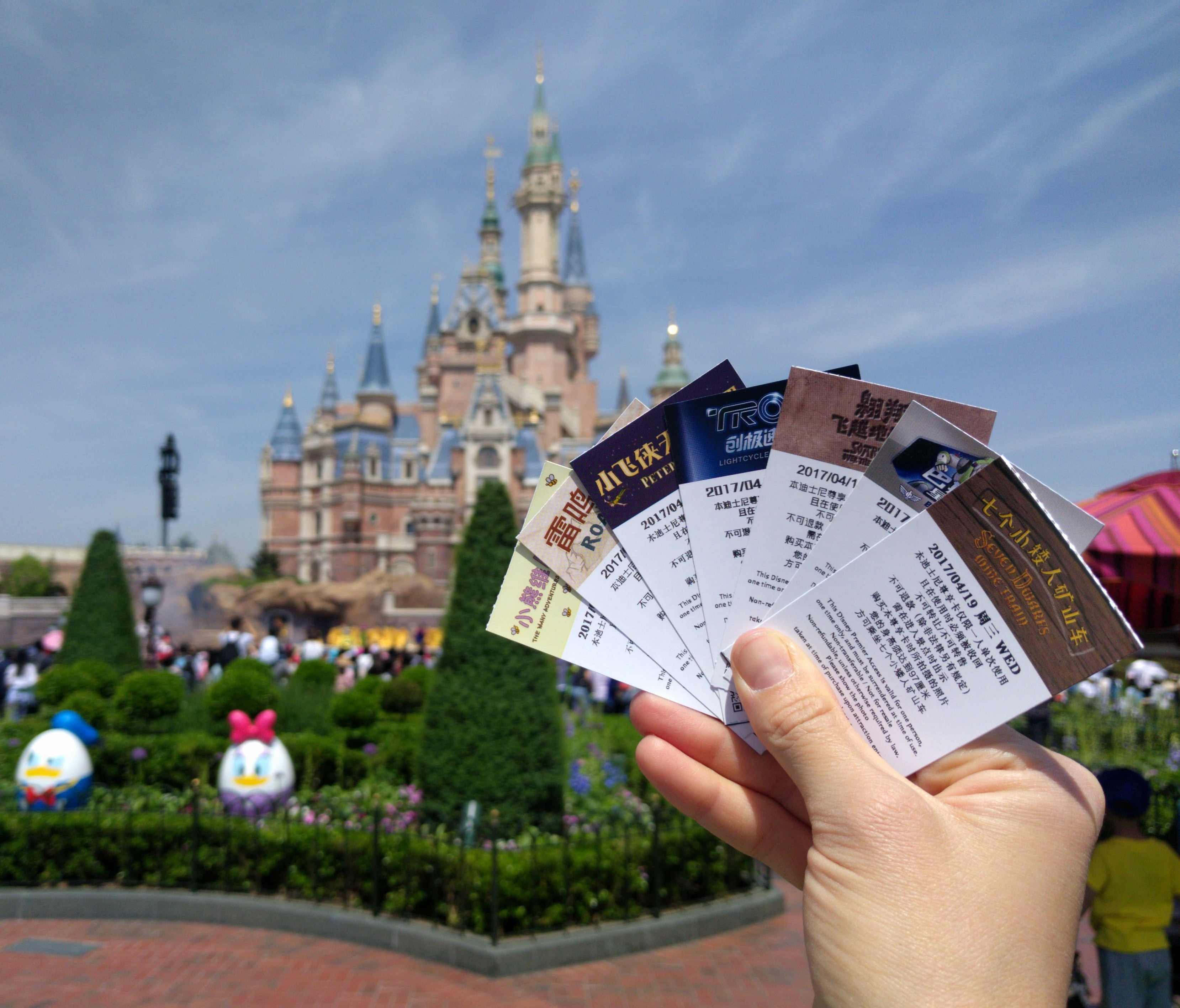 Shanghai Disneyland Paid Fastpasses Castle - Disney Premier Access