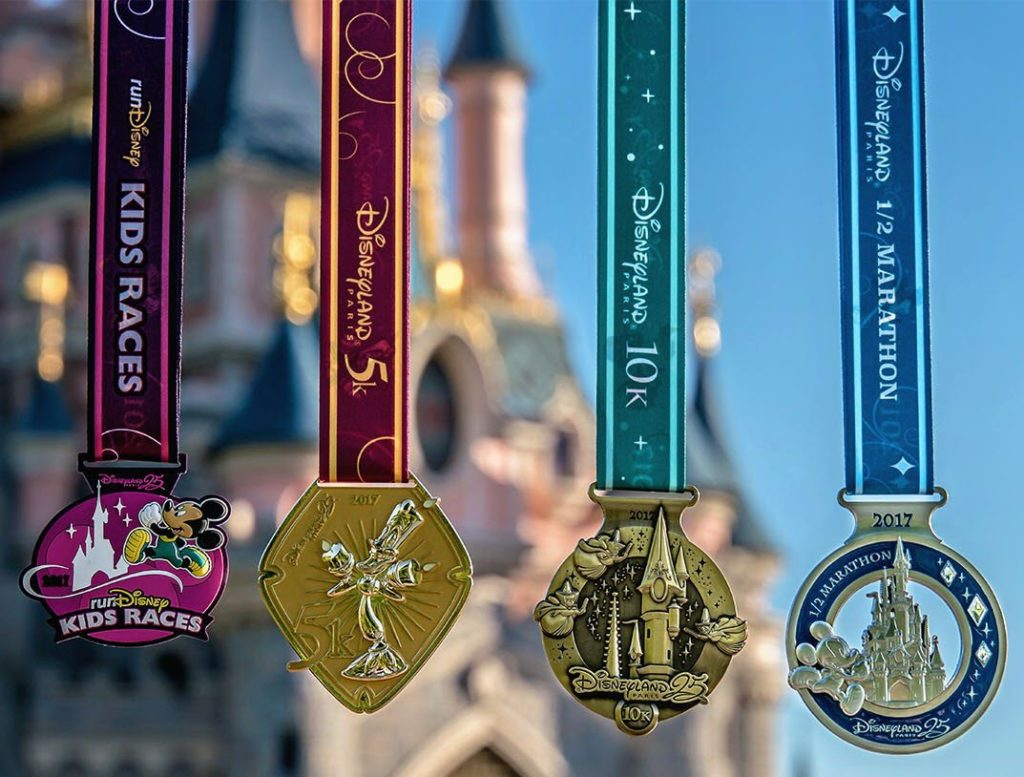 runDisney 2017 Disneyland Paris Medals (without challenge)