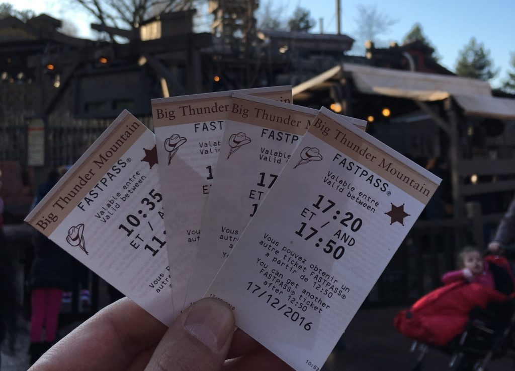 Disneyland Paris Fastpasses - Big Thunder Mountain