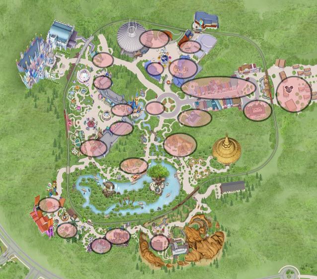 Hong Kong Disneyland Wi-Fi locations