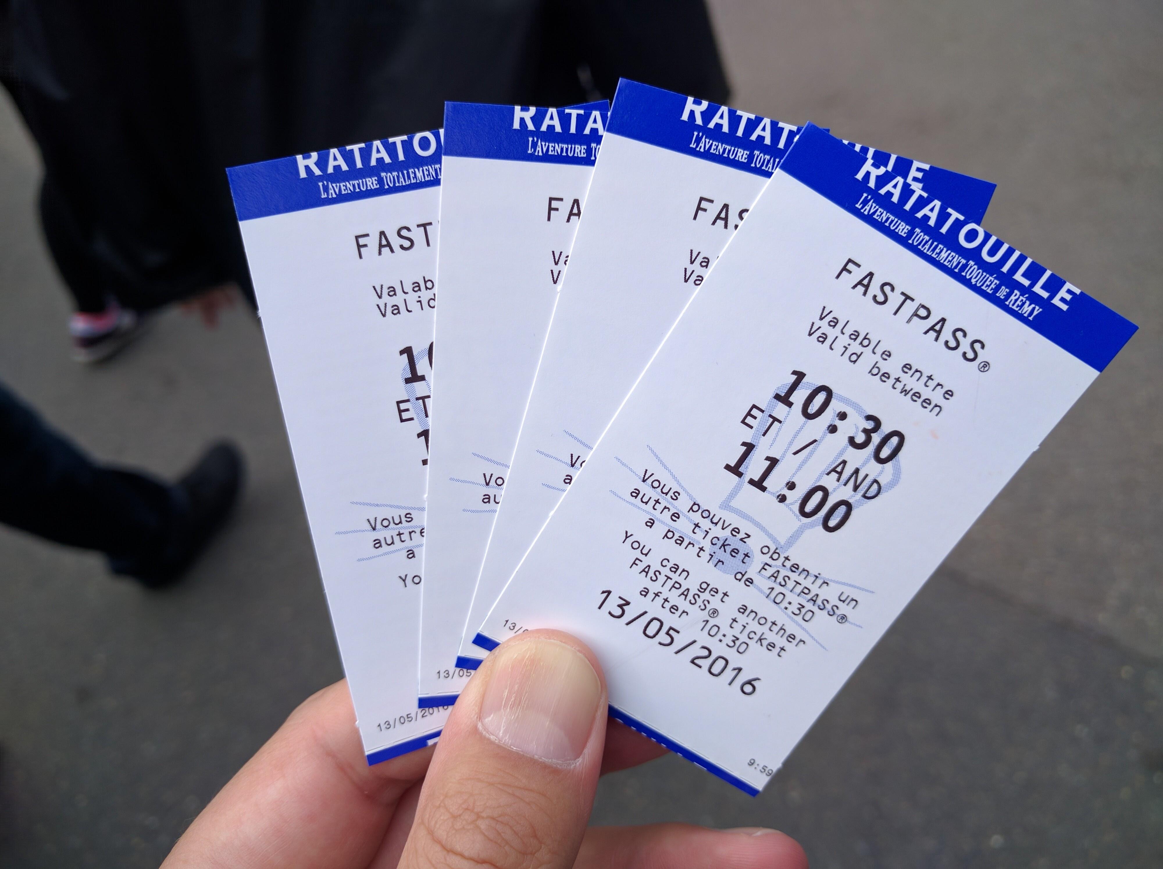 Disneyland Paris Fastpass - Walt Disney Studios Ratatouille