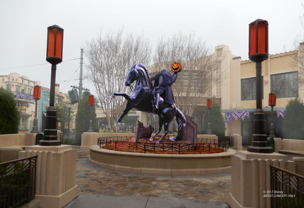 Disney California Adventure Halloween - Headless Horseman