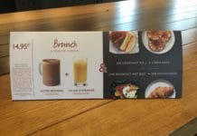 Disneyland Paris - Starbucks Brunch Menu