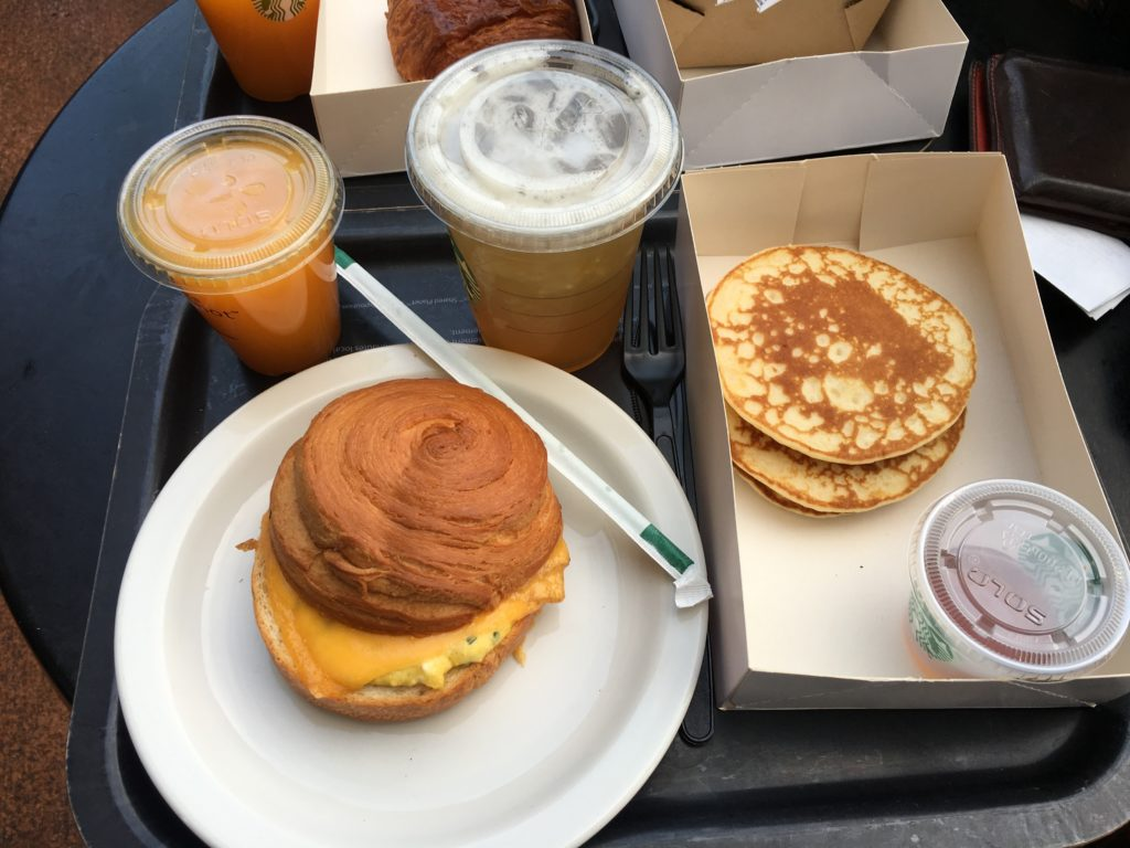 Disneyland Paris - Starbucks breakfast 2