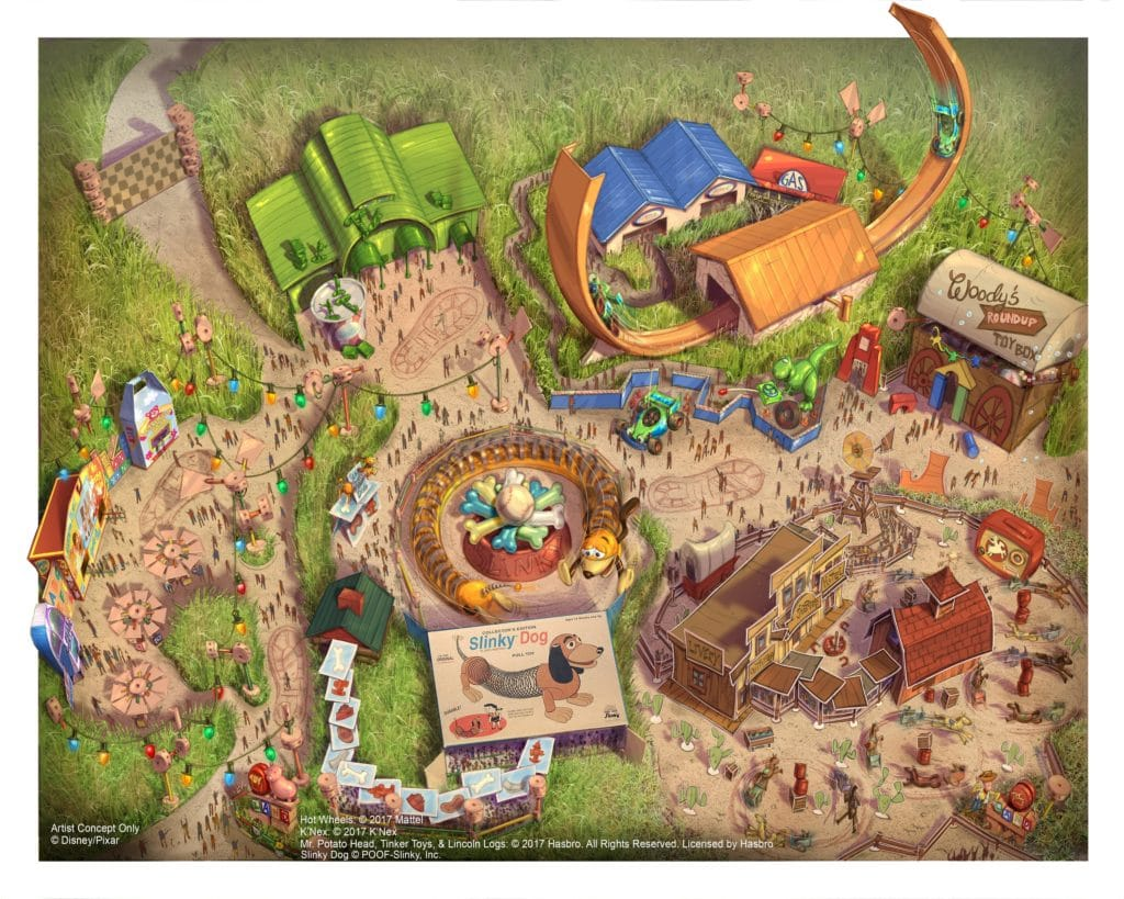 Shanghai Disney Resort - Toy Story Land - Disney Toy Story Land Fun Map