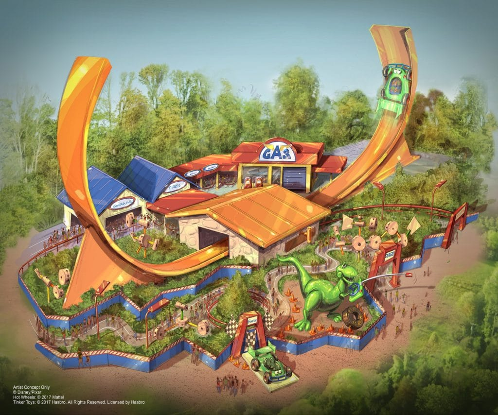 Shanghai Disney Resort - Toy Story Land - Rex's Racer rendering