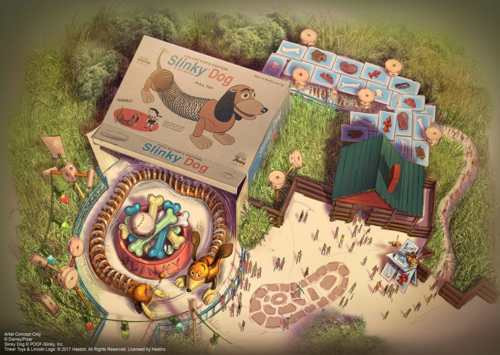 Shanghai Disney Resort - Toy Story Land - Slinky Dog Spin rendering