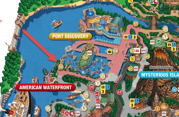 Tokyo DisneySea Map - Seaside Snacks