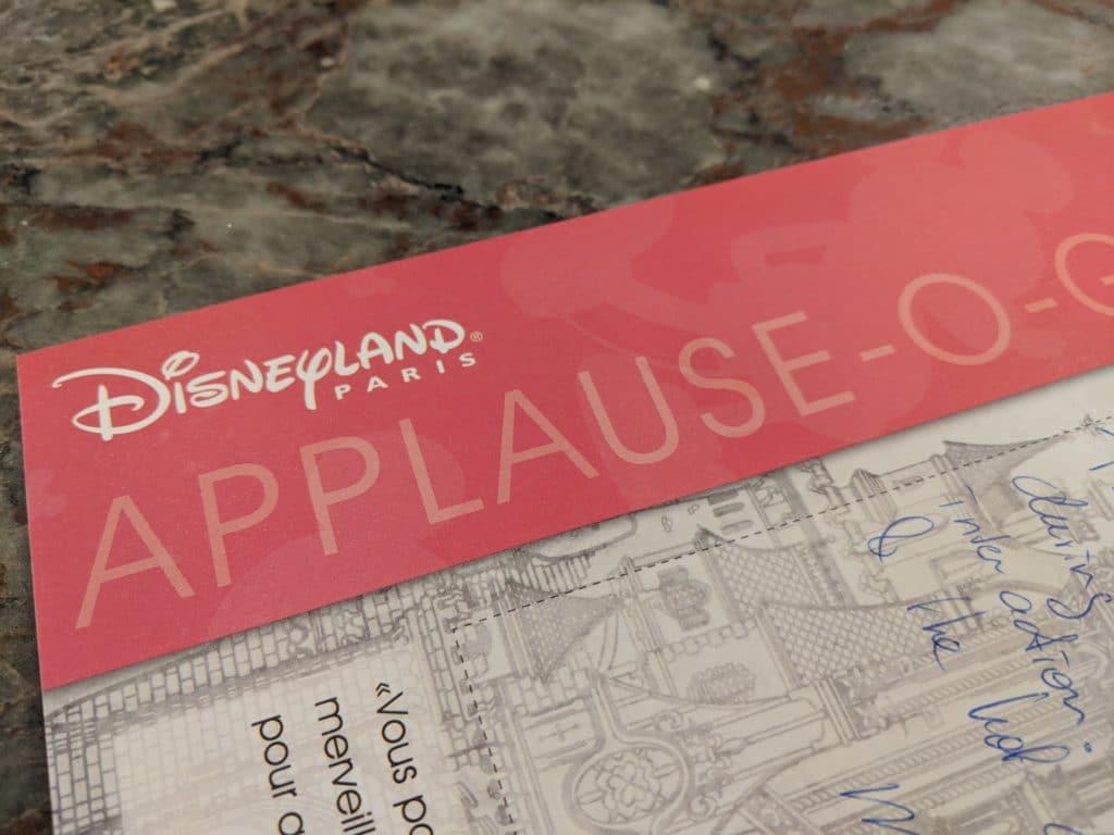 Disneyland Paris - Cast Compliment