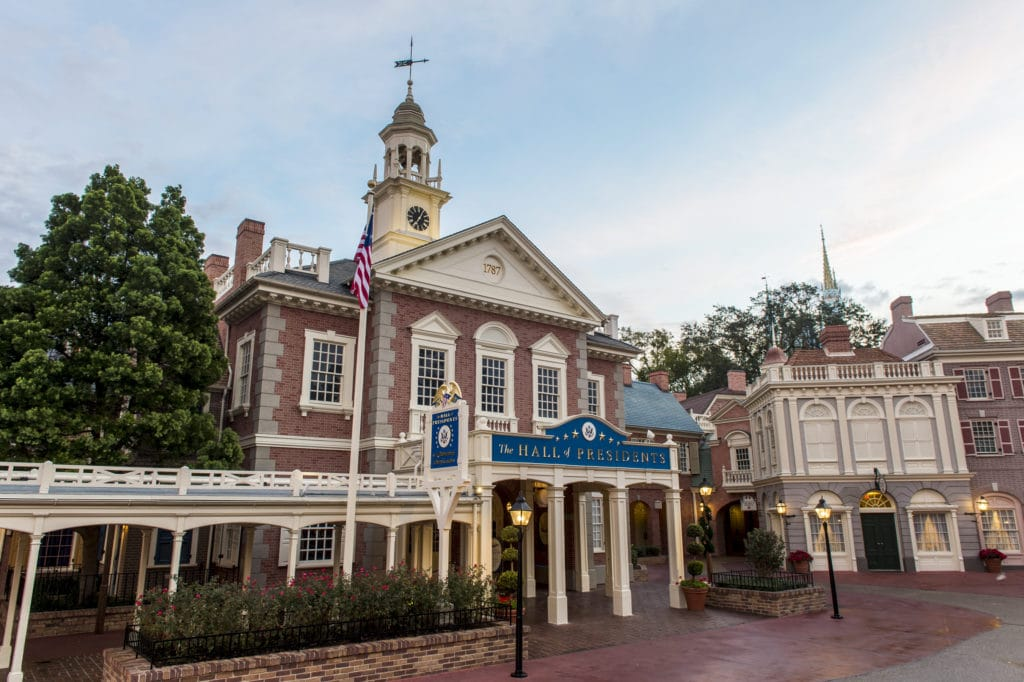 The Hall of Presidents at Magic Kingdom Park