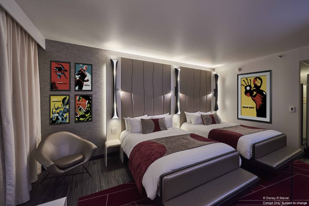 Disney's Hotel New York – The Art of Marvel - Room Concept Art