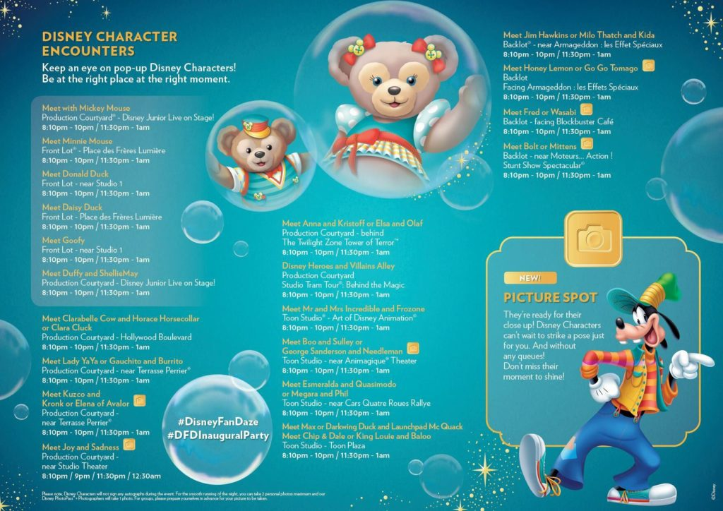 Disney FanDaze Meet n Greet Program