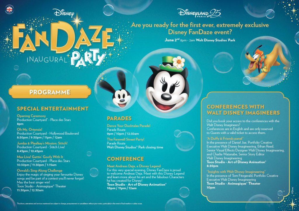 Disney FanDaze Program