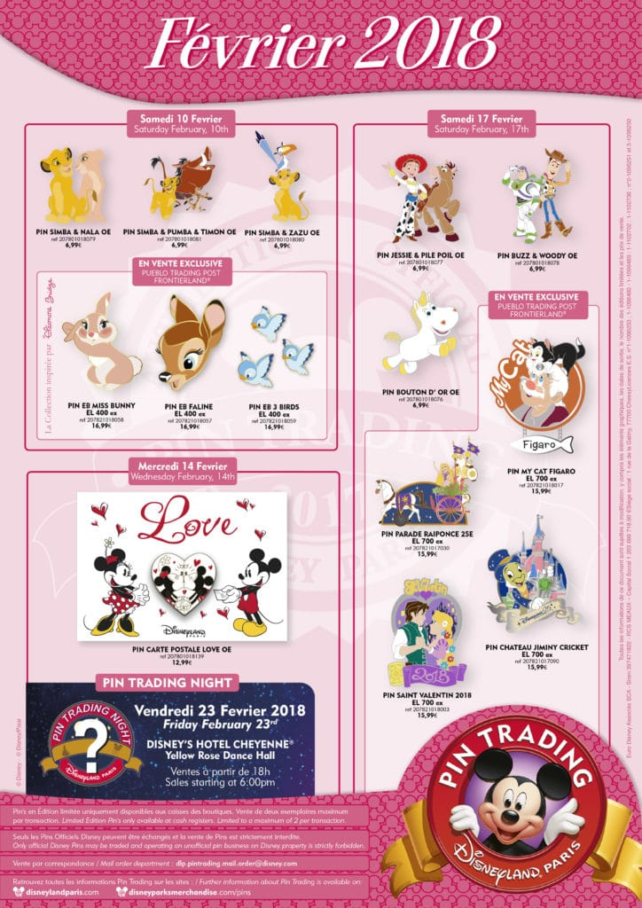 Disneyland Paris - Pin Trading February 2018