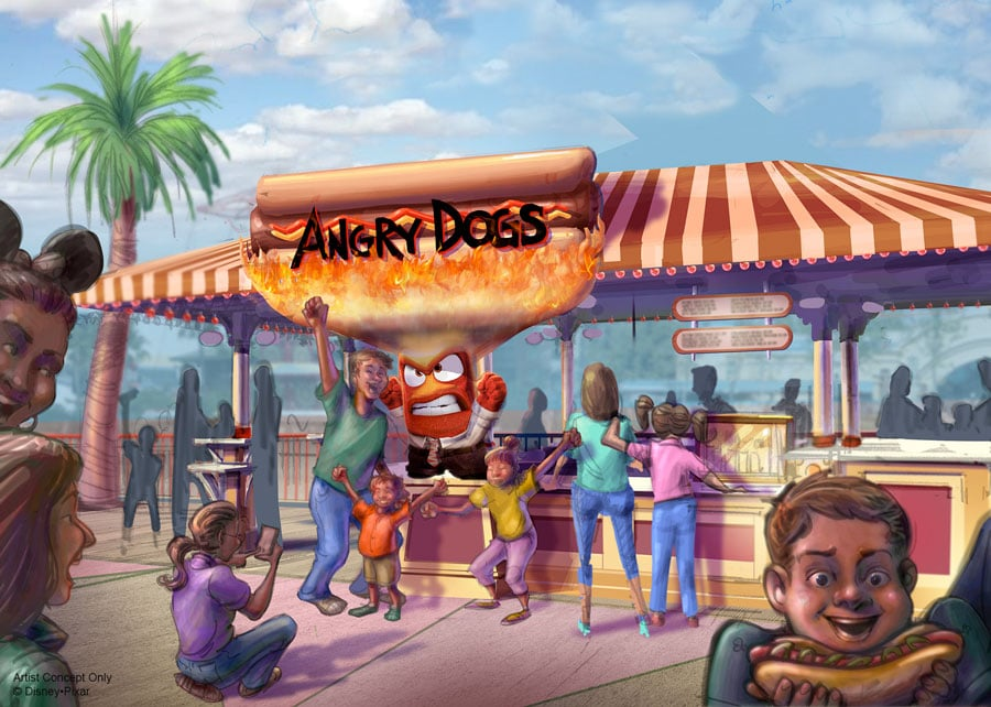 Disney California Adventure Park - Pixar Pier - Angry Dogs