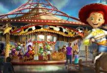 Disney California Adventure Park - Pixar Pier - Jessie's Critter Carousel