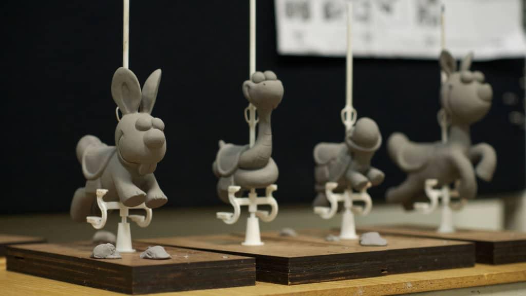 Disney California Adventure Park - Pixar Pier - Jessie's Critter Carousel - Closeup