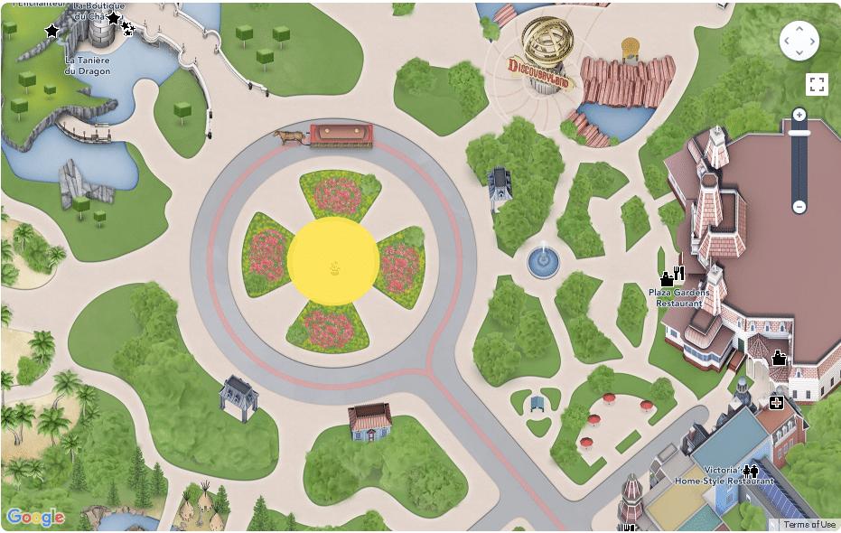 Disneyland Paris - Map - Central Plaza