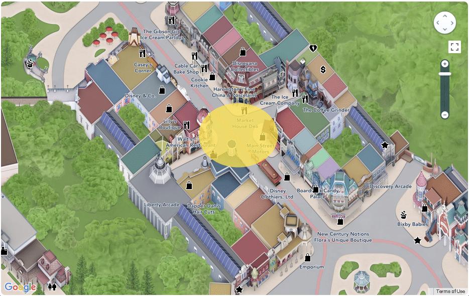 Disneyland Paris - Map - Main Street USA