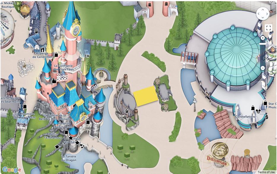 Disneyland Paris - Map - Royal Castle Stage