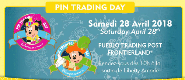 Disneyland Paris - Pin Trading Day April 2018
