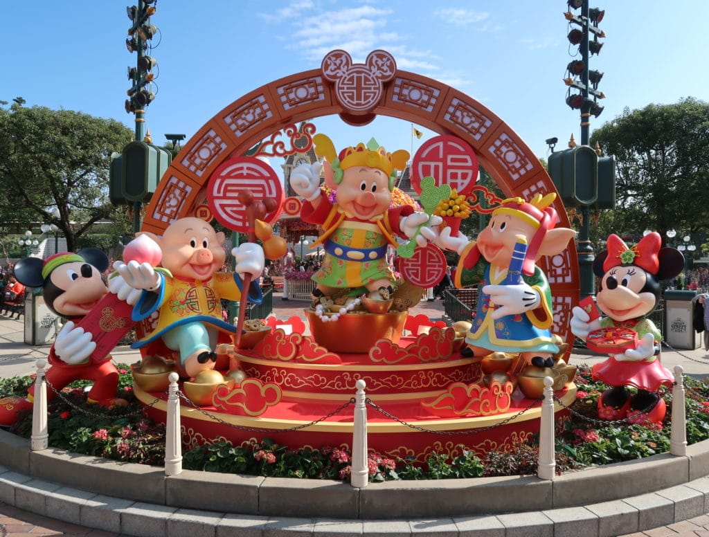 Hong Kong Disneyland - Chinese New Year 2019 - The Year of the Pig - Mickey Kitto - Decorations