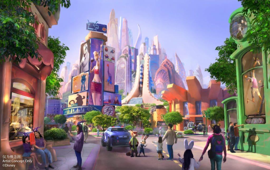 Shanghai Disneyland - Zootopia Concept Art