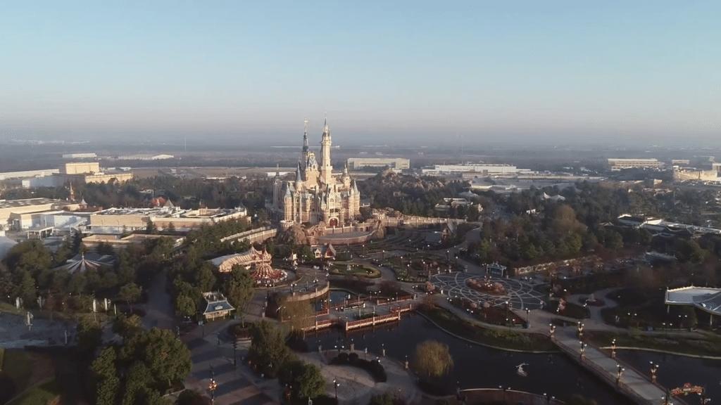Shanghai Disneyland Drone Aerial Footage