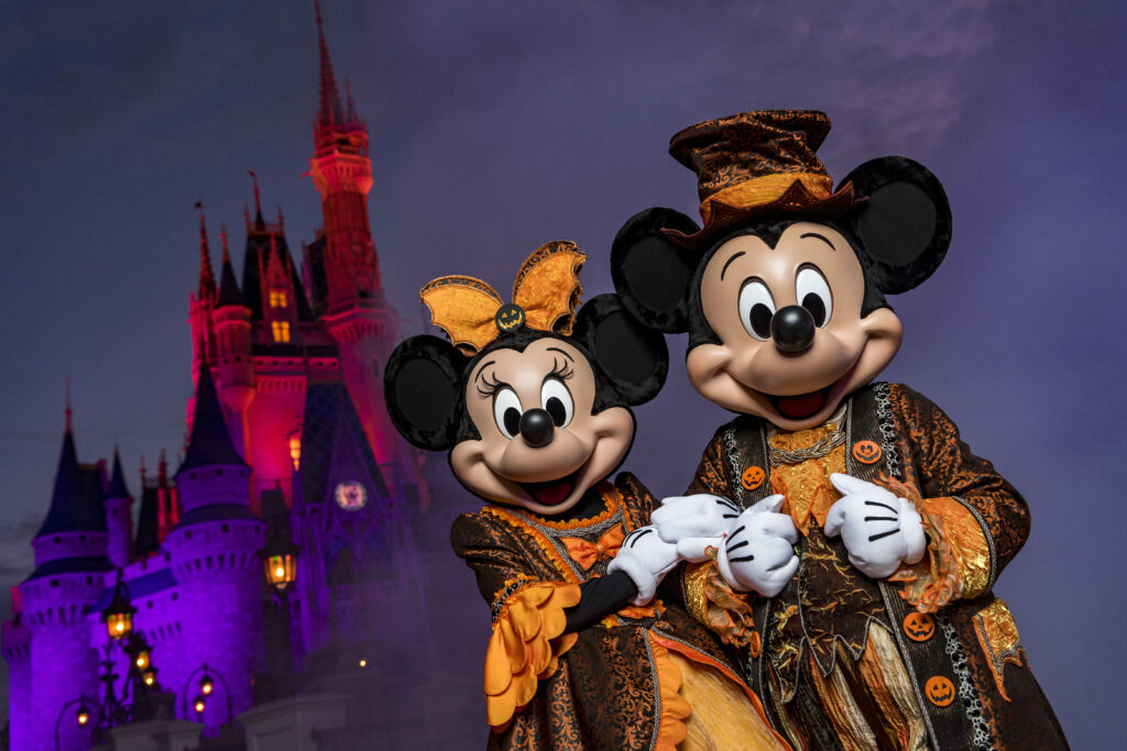 Mickey and Minnie in their Halloween Outfit at Magic Kingdom